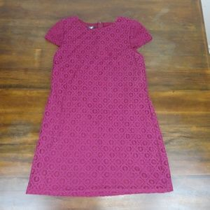 Suzi Chin Lace Dress Size 6 Cap Sleeve Maroon